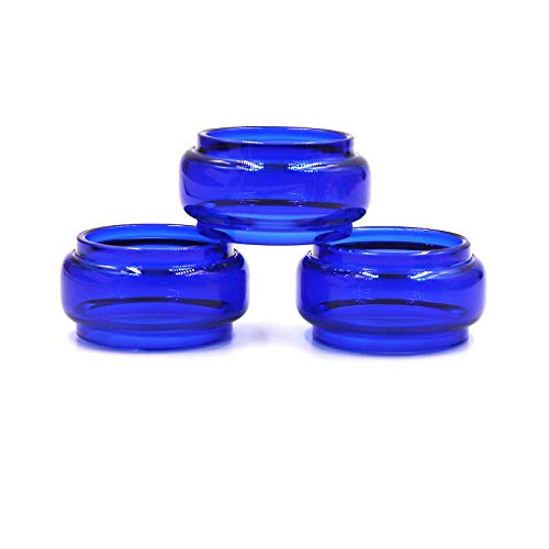 CENGLORY 3PCS Replacement Fat Bulb Glass Tube 8.5ml Capacity for Stick V9 Max (Blue) (Color: Blue)