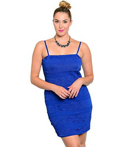Women's Plus Size Sassy Spaghetti Strap Mini Dress - Adjustable Straps
