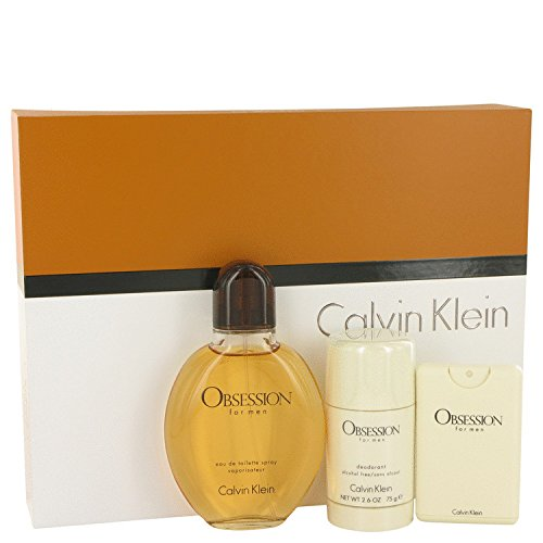 [Bella Bella Boutique] Obséssion Men Gift Set 4 oz Eau De Toilette Spray + .67 oz Min EDT Spray + 2.6 oz Deodorant Stick