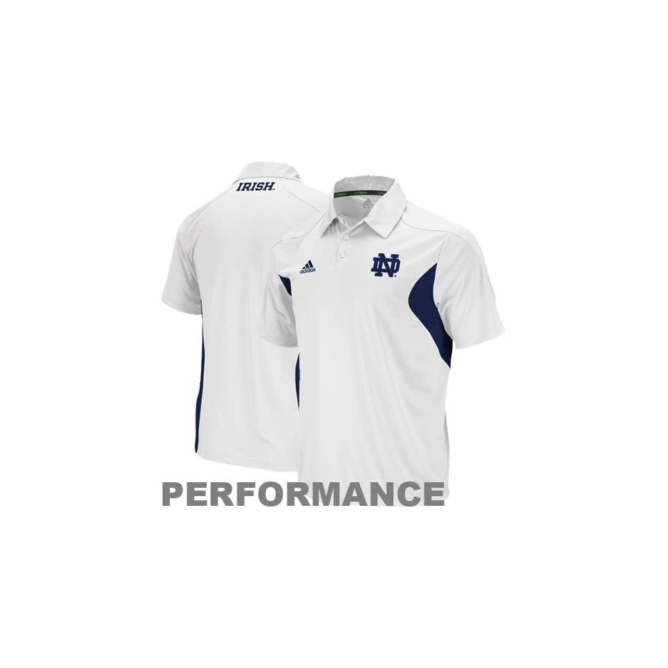 Notre Dame Fighting Irish White adidas Football Adizero Sideline Polo Shirt