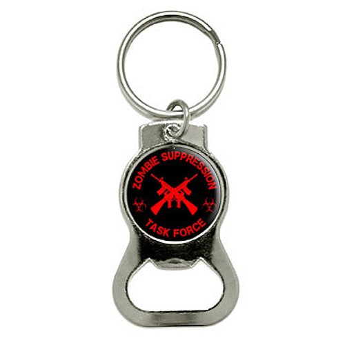 Graphics and More Zombie Suppression Task Force - AK-47 - Biohazard - Red Bottle Cap Opener Keychain (KB0630) (Ak 47 Bottle Opener compare prices)
