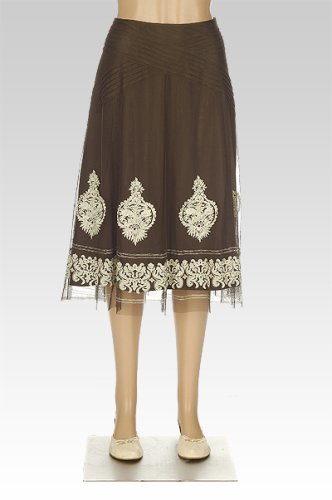 Pleat Detail Embroidered Skirt - Buy Pleat Detail Embroidered Skirt - Purchase Pleat Detail Embroidered Skirt (Nygrd Collection, Nygrd Collection Skirts, Nygrd Collection Womens Skirts, Apparel, Departments, Women, Skirts, Womens Skirts)