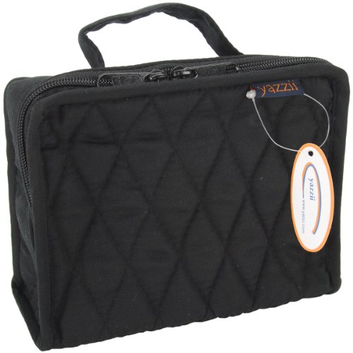 """Buy Cheap Yazzii Quilted Cotton Petite Organizer-5""""X6.4""""X2.6"""" Black"""