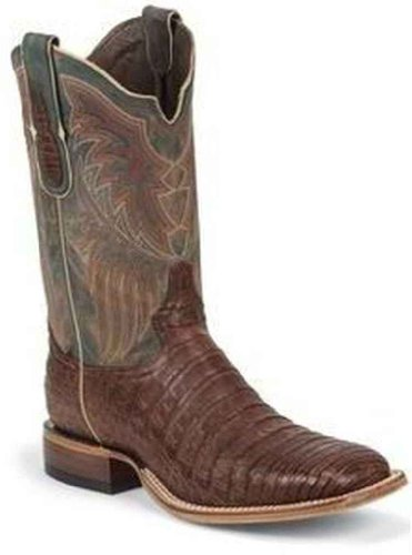 Tony Lama 6075 Men S Vintage Belly Caiman Boot Dark Cognac