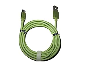 Dhhan Extra Long(2 Mtr) Green Fish Net Charge/Sync Cable For Karbonn K88