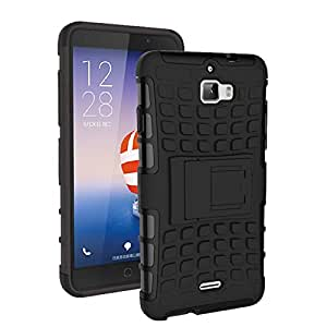 Coolpad Dazen 1 Protective Back Cover / Case : Cool Mango Premium Dual Layer Armor Protection Case Cover with Kickstand for Coolpad Dazen 1 - Black