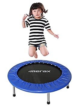 "Merax 36"" Foldable Exercise Mini Trampoline with Safety Pad"