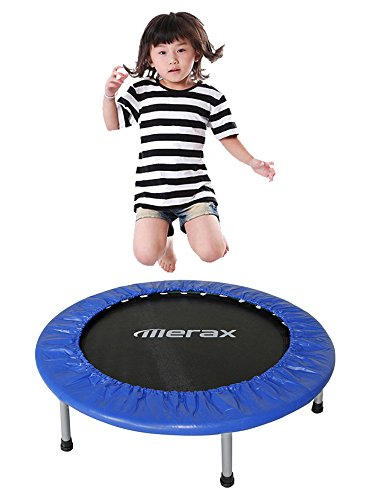 Merax-36-Foldable-Exercise-Mini-Trampoline-with-Safety-Pad
