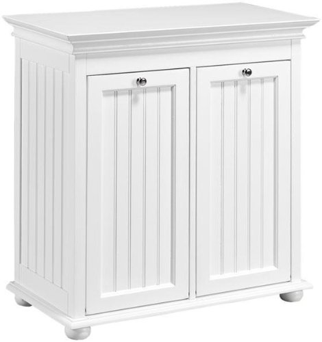 "Sale!! Hampton Bay Double Tilt out Beadboard Hamper, 26""W, WHITE"