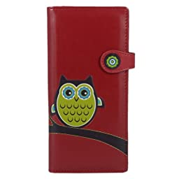 New Red Heritage Owl Large Woman\'s Wallet By Shagwear