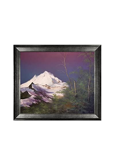 "Jerry Sauls ""Mountain Pass"" Framed Reproduction Print on Canvas"