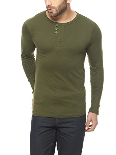 Gritstones-Olive-Green-Full-Sleeve-Round-Neck-T-Shirt