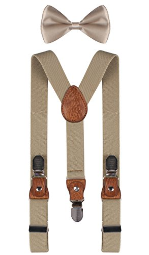 BODY STRENTH khaki suspenders khaki bowtie infant suspenders boys bowtie Khaki (Bow Ties Khaki compare prices)