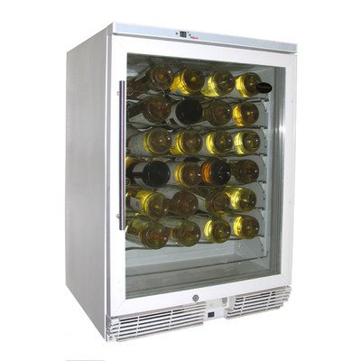 Vinotemp 60 Bottle Wine Cellar, White
