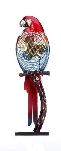 Deco Breeze Decorative Figurine Table Fan Parrot, Multi-Color, 32-Inch Tall by 9-Inch Wide
