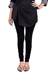 Anuradha Women's 4-way stretchable Cotton-Lycra Slim Fit Leggings (Size: Large)