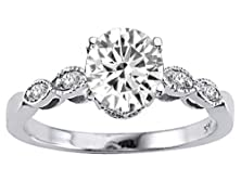buy Tommaso Design Round 7Mm Genuine White Topaz S Solitaire Engagement Ring 14K Size 6