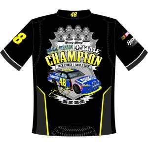 Jimmie Johnson 4-Time Champion Adult Pit Crew Shirt by RacingGifts