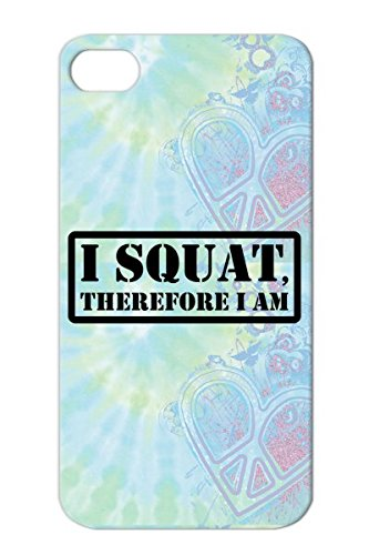 W Miscellaneous Sports Mens Weightlifting T Shirts Bodybuilding Shirts Womens And Mens Athletic Apparel Black Case Cover For Iphone 4 I Squat Therefore Am Exercise Work Out front-884487