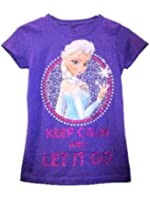 Disney Frozen Elsa Shirt Keep Calm and Let It Go, Purple