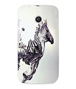 Fuson 3D Printed Zebra Designer Back Case Cover for Motorola Moto E - D1054