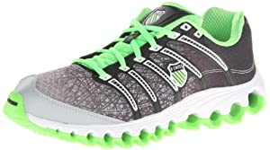 K-Swiss Women's Tubes Run 100 Running Shoe,Scream Green/Black Line Fade,6.5 M US