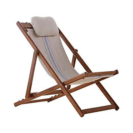 Ménage Chaise inclinable en bois pour l'extérieur Chaises pliantes pliantes Chaise longue Chaise de plage Chaise Nap ( couleur : A )