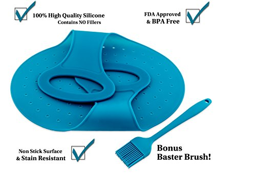 Blue Lifter and Bonus Baster Brush- Best Silicone Lifter for Easy Lifting of Cooked Turkey, Ham, Chicken, and Prime Rib - Great for Thanksgiving or a Gift (Roast Lifter compare prices)