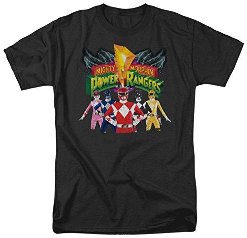 Trevco Men's Power Rangers Rangers Unite T-Shirt, Black, Small (Black Ranger Shirt compare prices)