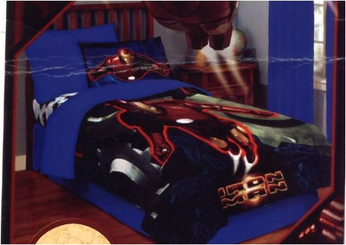 Croscill Bedding Reviews: Brand New Marvell Iron Man Twin Comforter Bed Set With Fitted Sheet