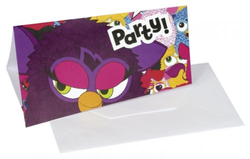 Furby Birthday - Furby Party Invitations x 6 - 1