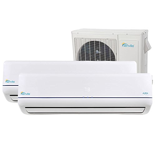 Senville SENA-36MO-218 36000 BTU Dual Zone Split Air Conditioner and Heat Pump, Mini