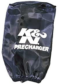 K&N(ケーアンドエヌ) プリチャージャー ブラック カスタムフィルター ラウンドストレート用 φ89x127mm RU-0510PK