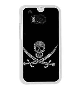 Skull with Swords 2D Hard Polycarbonate Designer Back Case Cover for HTC One M8 :: HTC M8 :: HTC One M8 Eye :: HTC One M8 Dual Sim :: HTC One M8s