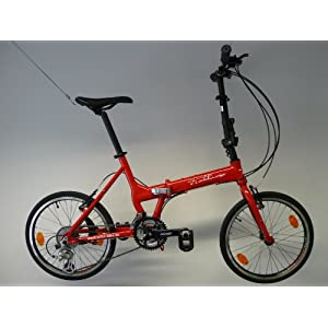 edelweiss r3 folding bike klapprad faltrad rot. Black Bedroom Furniture Sets. Home Design Ideas
