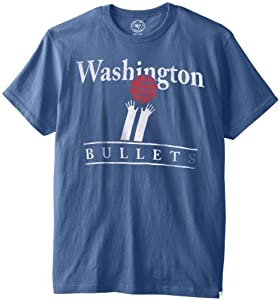 NBA Washington Wizards Flanker Tee, Bleacher Blue by
