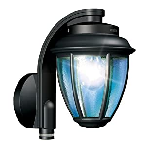 steinel lantern outdoor wall light with pir photocell black. Black Bedroom Furniture Sets. Home Design Ideas