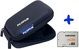 Bundle: Fujifilm Small Hard Case Black +Samsung 4GB SDHC Card Class 4