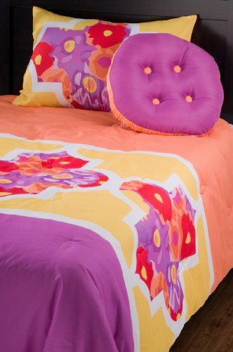 Rizzy Home Lattice 4-Piece Kids Comforter Set, Full/Queen front-465540