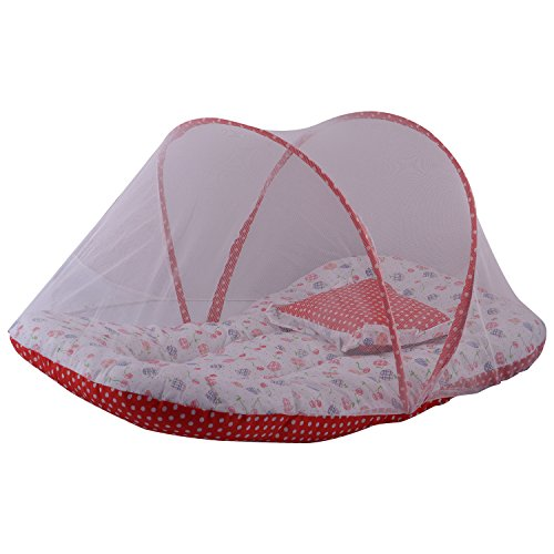 Mommas Baby INDIA Mommas Baby India Baby Bed With Net Red Straberry Print