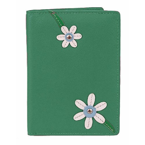 Mala Leather Blossom Passport Cover/Holder