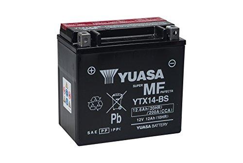 YUASA YTX14-BS Powersports AGM Motorrad Batterie, wartungsfrei (Preis inkl. EUR 7,50 Pfand)