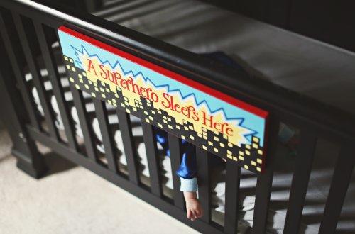 A Superhero Sleeps Here: Kids Bedroom Decor Canvas Wall Art for Boy's Room шорты whimsy шорты