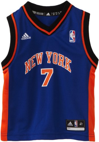 Nba Toddler New York Knicks Carmelo Anthony Away Replica Jersey - R24E6Jjm (Blue, 3T)