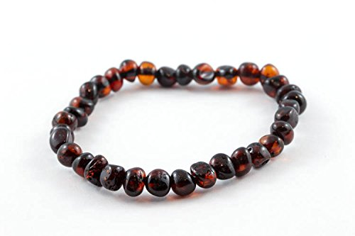 "Healing Hazel 100% Balticamber Adult Bracelet, Cherry Polished, 7"" - 1"