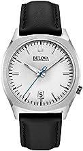 Comprar Bulova Accutron II-Chaqueta UHF Reloj de mujer con esfera analógica gris y negro correa de piel 96B213