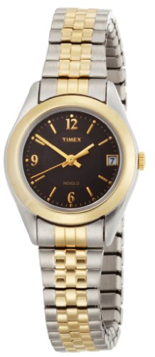 Timex Women's T2N320 Elevated Classics Dress Two-Tone Expansion Watch