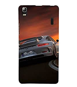 Sports Car 3D Hard Polycarbonate Designer Back Case Cover for Lenovo A7000 :: Lenovo A7000 Plus :: Lenovo K3 Note