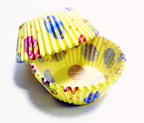 PME Cápsulas para Cupcakes modelo Huevos de Pascua (amarilla) 60 unid