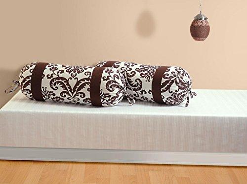 Swayam Drape And Dream Printed Cotton 2 Piece Bolster Cover Set - Choco (BCP02-9009 )
